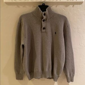 Polo Ralph Lauren 3 Button Mock Neck Sweater